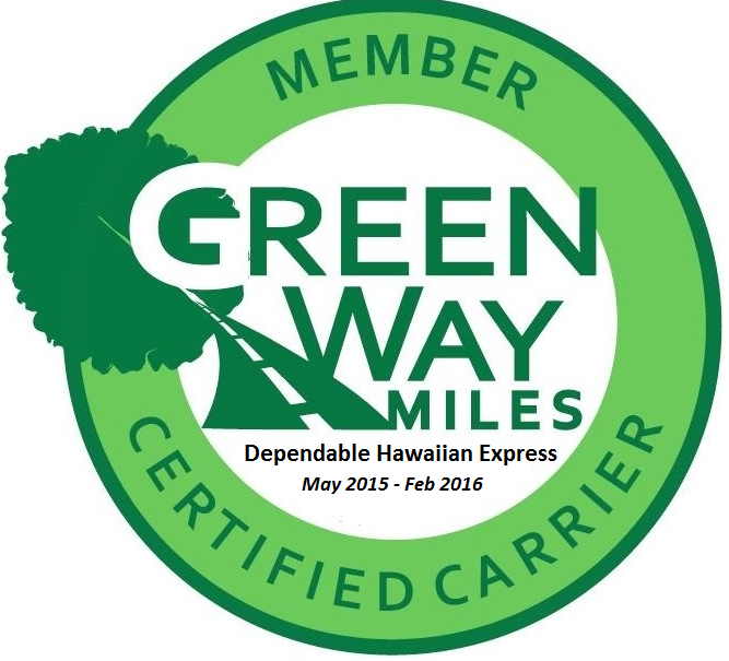 DHX is a Member GreenWay Miles Certified Carrier